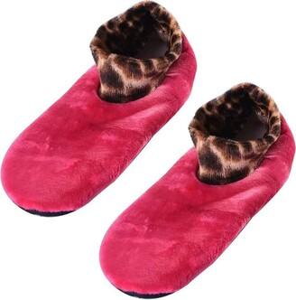 Tendaisy Biomall Women Indoor Non-slip Thermal Socks- Indoor Socks House Slippers Anti Skid Grips ROSE RED