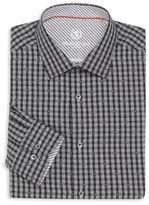 Bugatchi Regular-Fit Dot Check Cotton Dress Shirt