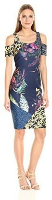 Rachel Roy Women's Scuba Cold Shoulder Midi Dress