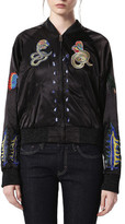 Diesel G-Absol Reversible Embroidered Bomber Jacket