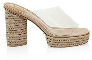 Mercedes Castillo Women's Asymmetric Platform PVC Braided Mules