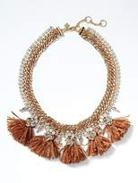 Banana Republic Raffia Statement Necklace