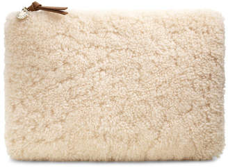 Large Sheepskin Zip Pouch