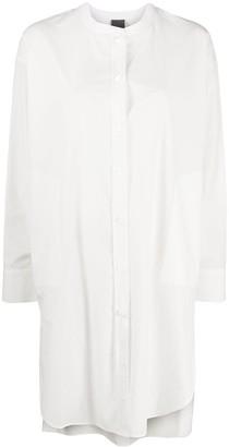 Lorena Antoniazzi Collarless Shirt Midi Dress