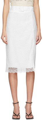 Commission SSENSE Exclusive White Lace Pencil Skirt
