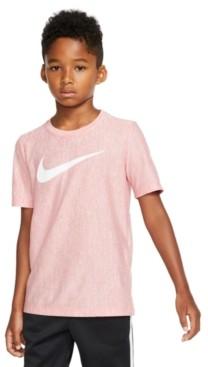 Nike Big Boys Logo-Print Dri-fit T-Shirt