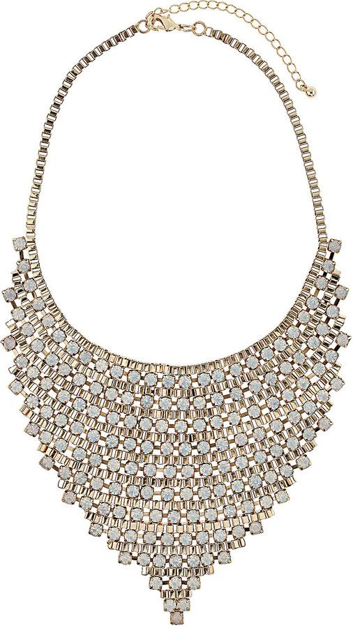 Topshop Premium Triangle Rhinestone Collar