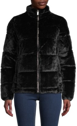 Andrew Marc Faux Fur Puffer