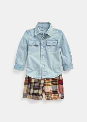Ralph Lauren Shirt, Belt & Short Set