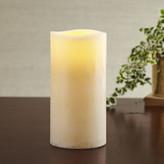 Birch Lane Marbled White Flameless Pillar Candle