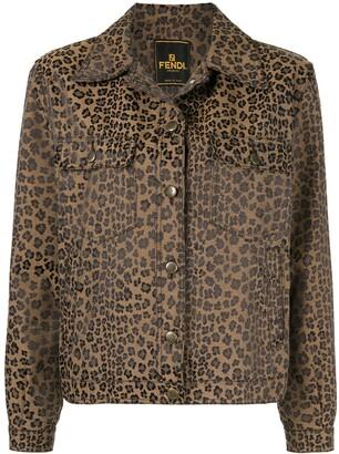 Fendi Pre-Owned Leopard Jacquard Jacket