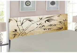 Bamboo Queen Upholstered Panel Headboard East Urban Home Size: Twin