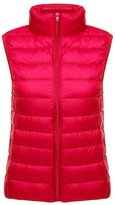 Ake Women's Ultra-Light Vest Down Puffer Jacket Windproof Coat