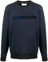 Calvin Klein textured logo sweater