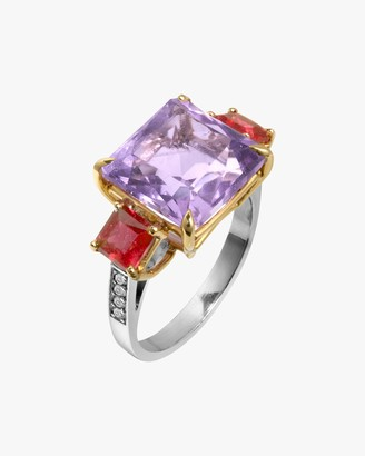 Dorion Soares Lavender Amethyst Rubellite Diamond Ring