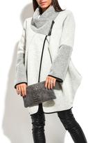 Everest Beige Wool-Blend Asymmetric Cowl Neck Coat