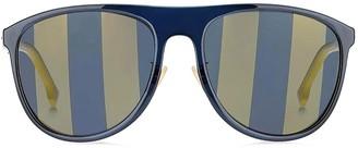 Fendi Eyewear Aviator Striped Tinted Sunglasses