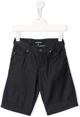Emporio Armani Kids TEEN knee-length multi-pocket shorts