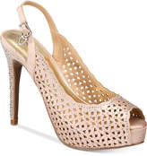 Thalia Sodi Cace Slingback Peep-Toe Pumps, Created for Macy's Women's Shoes