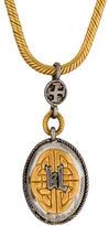 Karl Lagerfeld Bi-Color Long Pendant Necklace