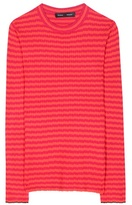 Proenza Schouler Striped silk and cashmere top
