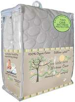My Little Nest Organic Cotton Quilted Pebbletex Waterproof Crib Mattress Pad (2)