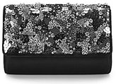 Kate Landry Sequined-Flap Clutch