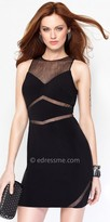 Alyce Paris Sleeveless Fitted Mesh Cut Out Party Dress
