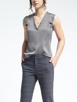 Banana Republic Easy Care Double Layer Sleeve Tank