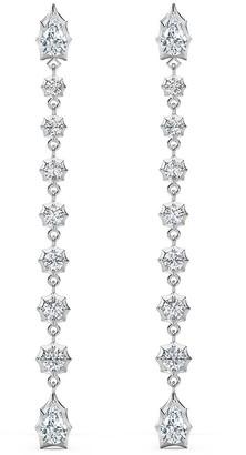 Jade Trau Diamond Envoy Short Drop White Gold Stud Earrings
