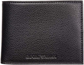 Emporio Armani Wallet Leather Coin Case Holder Purse Card Bifold