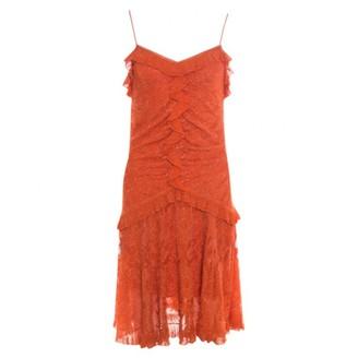 Christian Dior Orange Synthetic Dresses