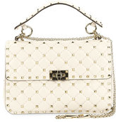 Valentino Rockstud Quilted Medium Shoulder Bag, Light Ivory