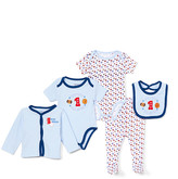 Sweet & Soft Boys' Infant Bodysuits Light - Light Blue 'Future All-Star' Cardigan Set - Newborn & Infant