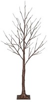 Philips 4ft Pre-Lit LED Artificial Christmas Tree Brown - White Lights