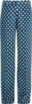 Miu Miu Heart-print wide-leg silk trousers