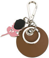 Marni flower and circle keychain