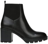 Thumbnail for your product : Naturalizer Verney Black Leather Platform Heeled Boot