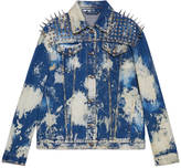 Gucci Oversize bleached denim jacket with studs