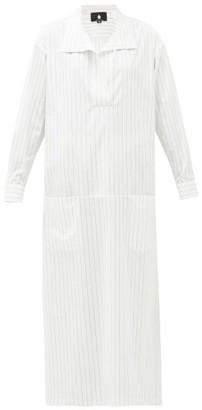 SU PARIS Luka Cotton-poplin Maxi Kaftan Dress - White Stripe