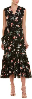 Rebecca Taylor Ruffle Wrap Dress