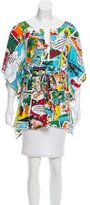 Dolce & Gabbana Oversized Comic Strip Print Top