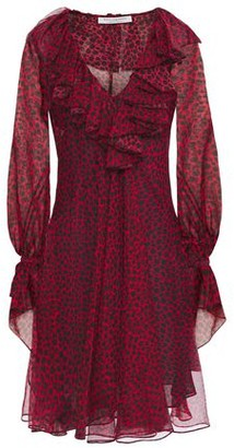 Philosophy di Lorenzo Serafini Ruffled Leopard-print Printed Voile Mini Dress