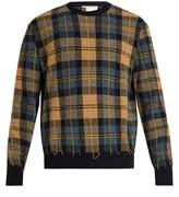 Stella McCartney Crew-neck checked wool sweater