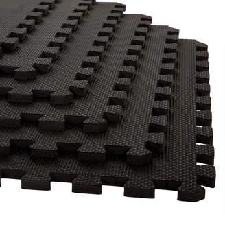 STALWART Stalwart 6-pack Black Interlocking EVA Foam Floor Mats