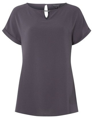 Dorothy Perkins Womens Tall Grey Bar Trim T