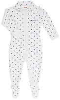 Bonds Baby Poodlette Dot Print Zip Wondersuit Sleepsuit, White/Blue