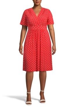 Anne Klein Plus Size Bolero Dot-Print Dress