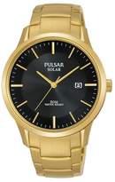 Pulsar - Men's Gold 'Solar' Analogue Bracelet Watch Px3162x1