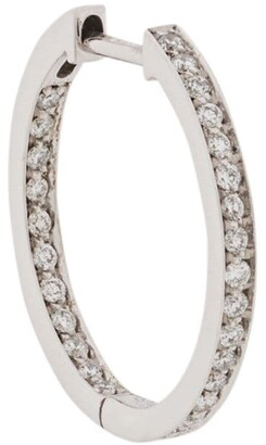 VANRYCKE diamond embellished hoop earring
